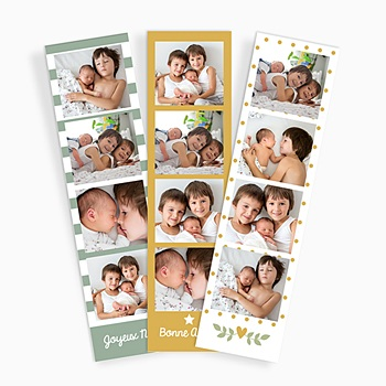 Magnet photo cabine Vert Jaune (lot de 3)