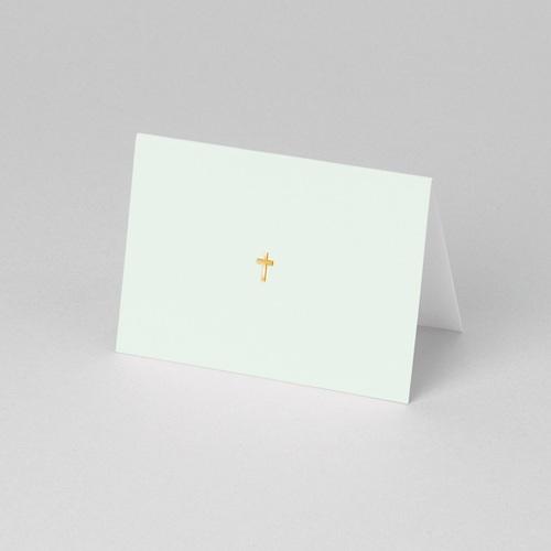 Marque-Place Communion - Croix dorée - Vert pâle 56969 preview