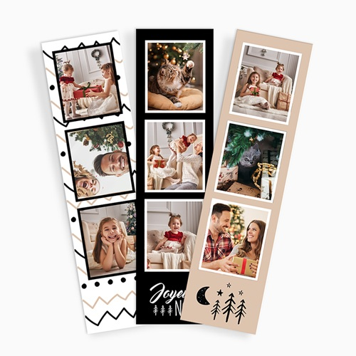 Magnet photo cabine Chevrons Noël (lot de 3)