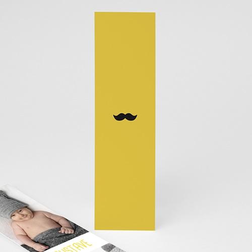 Faire-Part Naissance Garçon Moustache & petits pois