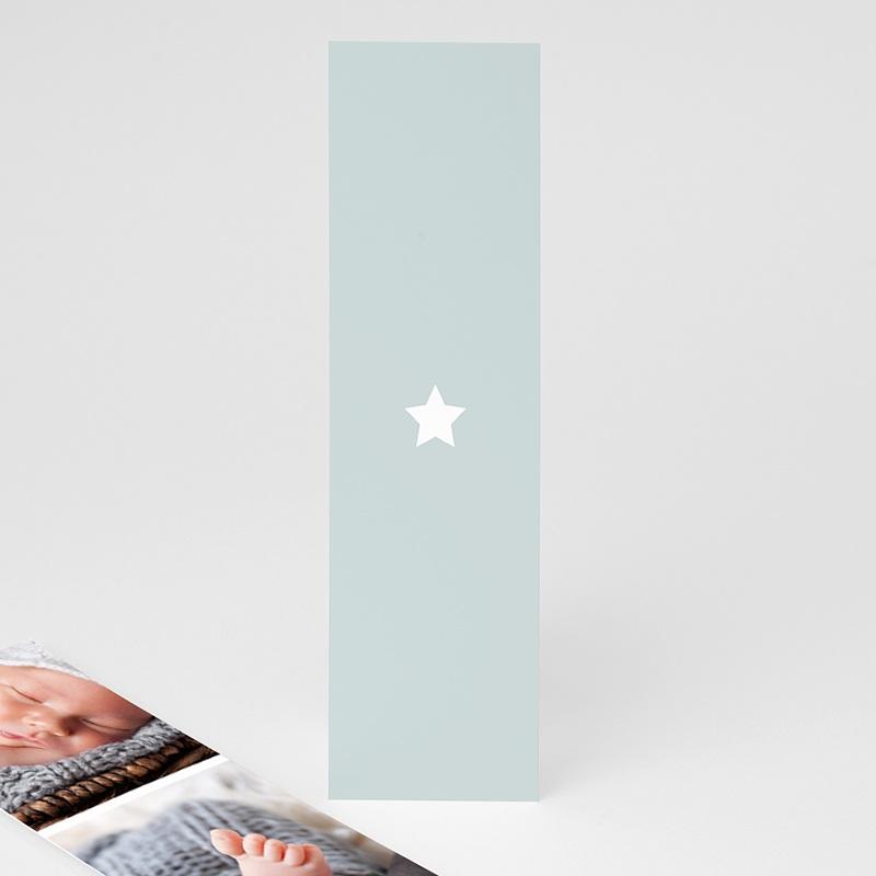Faire-Part Naissance Eléphant Doré avec une étoile format marque page