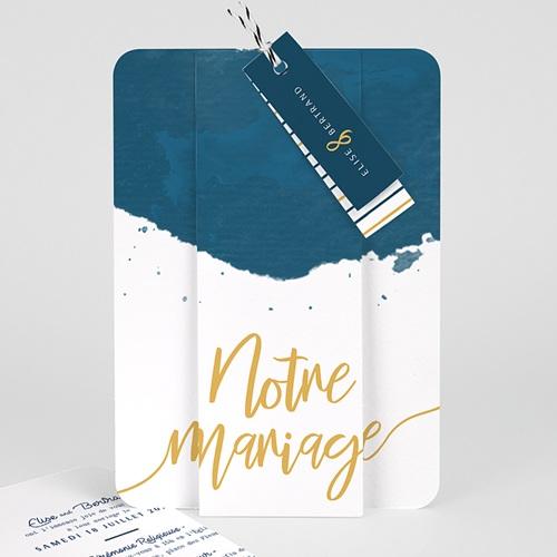 Faire Part Mariage creatif - L'or bleu 57332 thumb