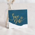 Save the date mariage L'or bleu