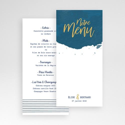 Menu de Mariage - L'or bleu 57352 thumb