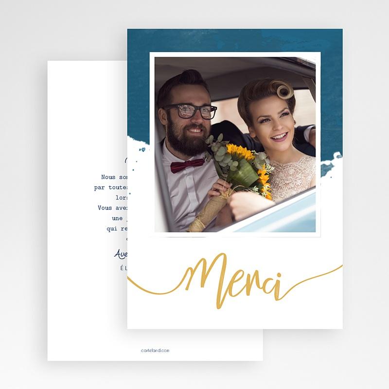 Carte Remerciement Mariage Original L'or bleu gratuit