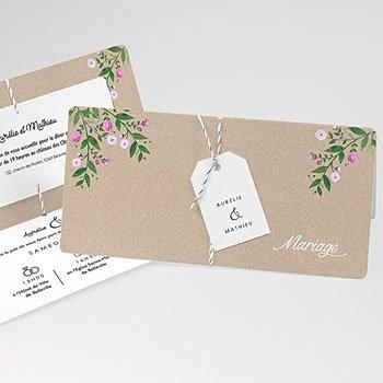 Faire-Part mariage champêtre - Nature en fête - 0