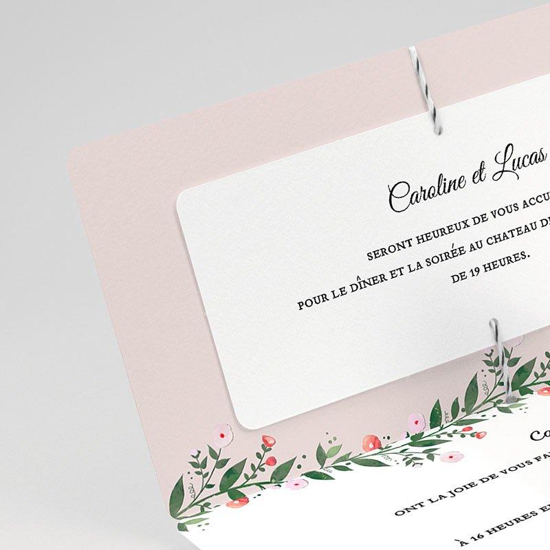 faire part mariage classique fleurs d 39 t. Black Bedroom Furniture Sets. Home Design Ideas