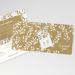 Faire-Part Mariage Nature White Kraft