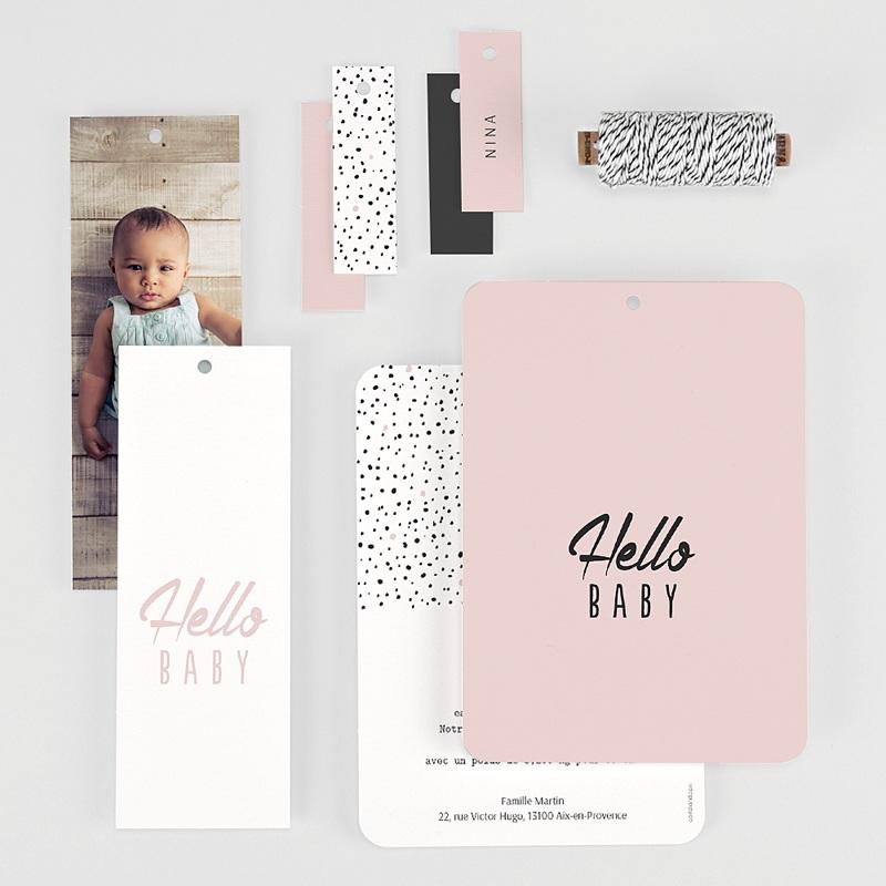 Faire-part naissance créatif Trio Hello Baby gratuit