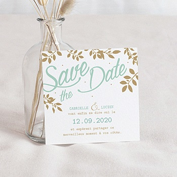 Save-The-Date - Feuillage Doré - 0