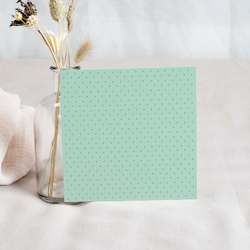 Save The Date Mariage Chic, Mint & feuilles pas cher