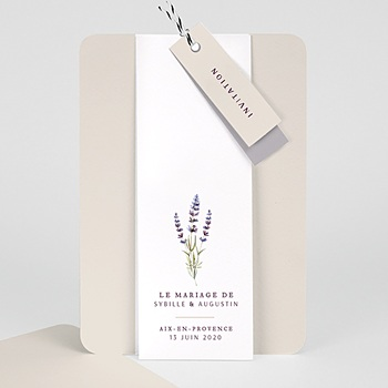 Faire-Part mariage champêtre - Bouquet de Lavande - 0