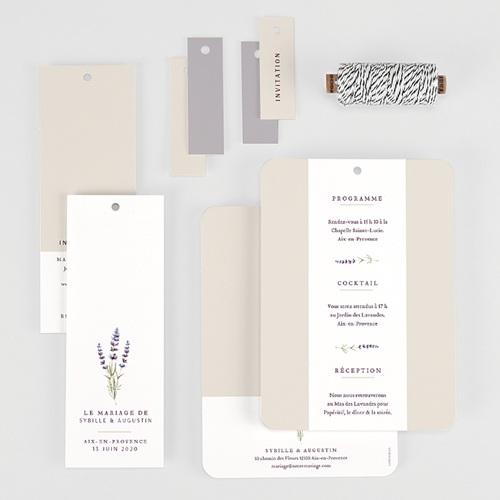 Faire-Part mariage champêtre - Bouquet de Lavande 57710 thumb