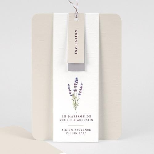 Faire-Part mariage champêtre - Bouquet de Lavande 57711 thumb