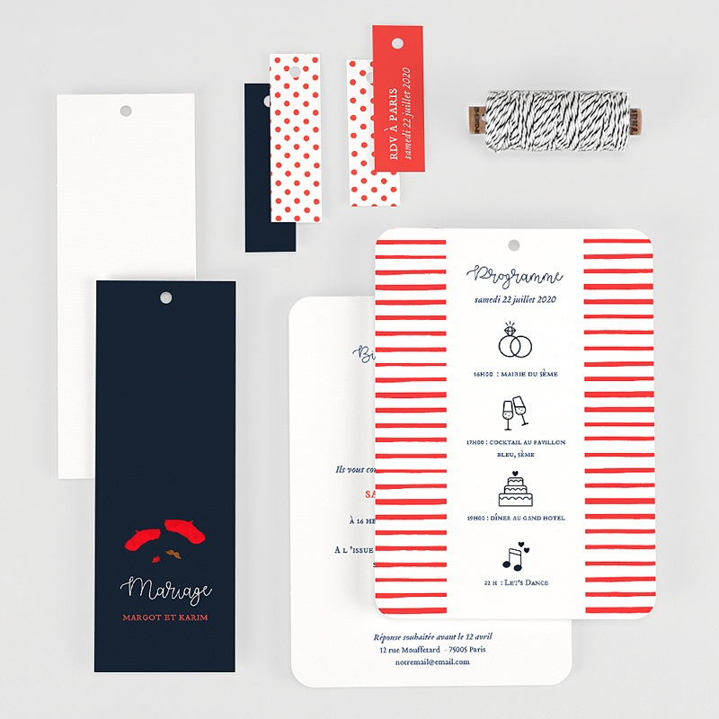 Faire Part Mariage Original - So french 57740 thumb
