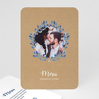 Carte remerciement mariage accents méditerranéens personnalisé