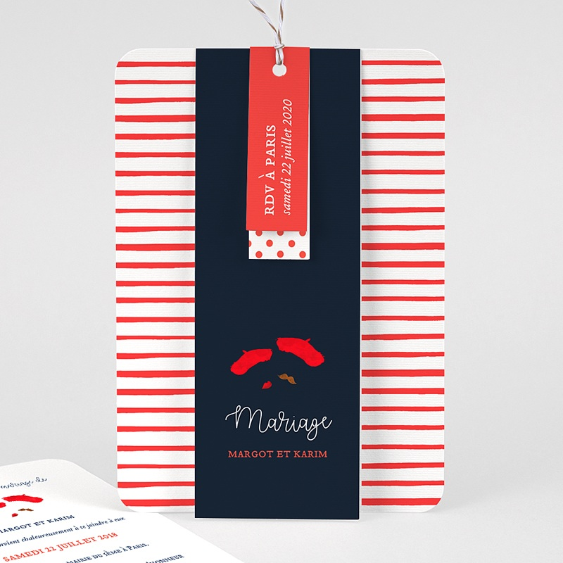 Faire Part Mariage Original - So french 57861 thumb