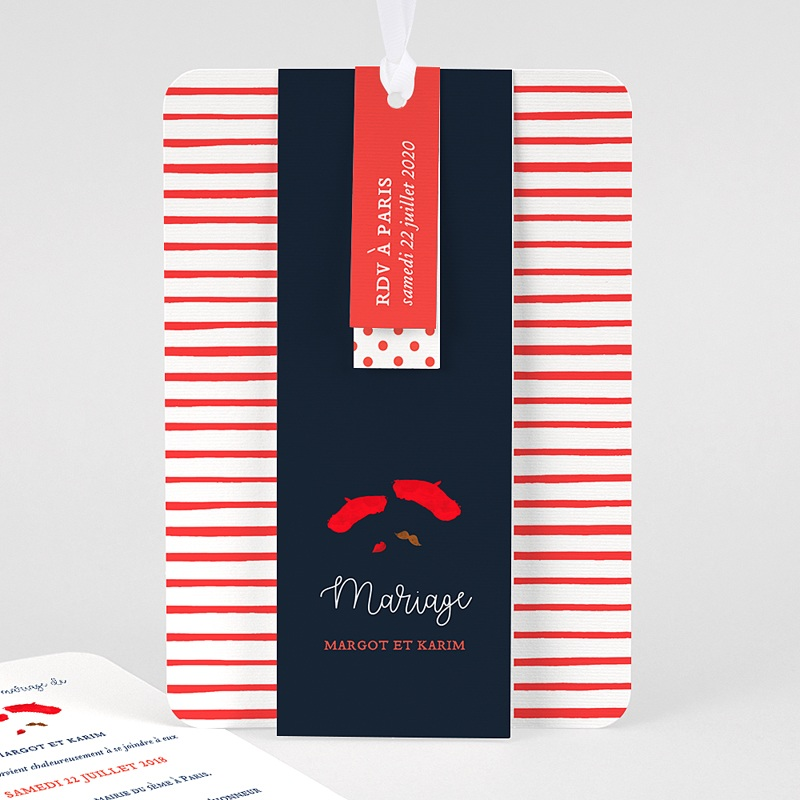 Faire Part Mariage Original - So french 57862 thumb