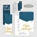 Faire-part mariage L'or bleu gratuit
