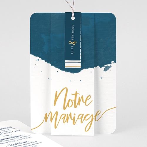 Faire Part Mariage creatif - L'or bleu 57868 thumb