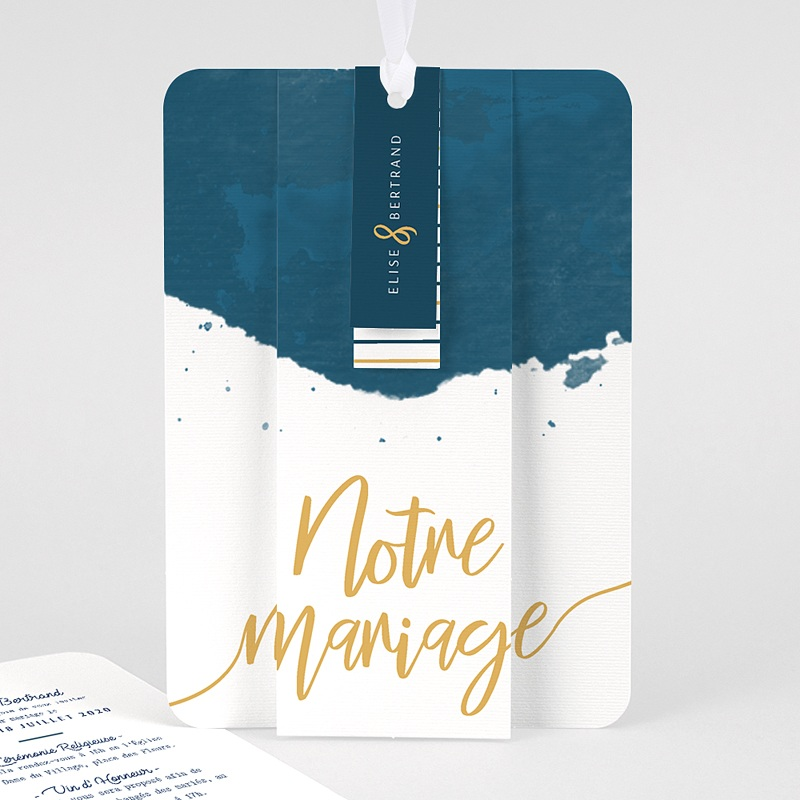 Faire Part Mariage creatif - L'or bleu 57869 thumb