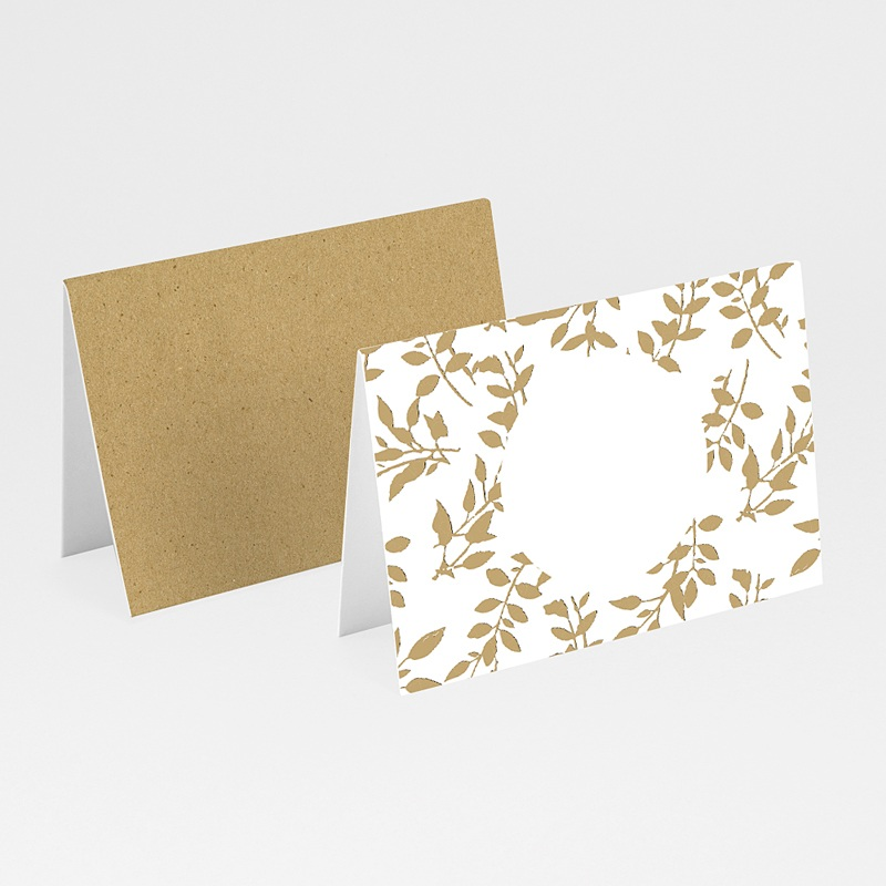Marque Place Mariage Nature White Kraft