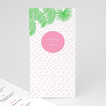 Achat menu mariage exotic chic