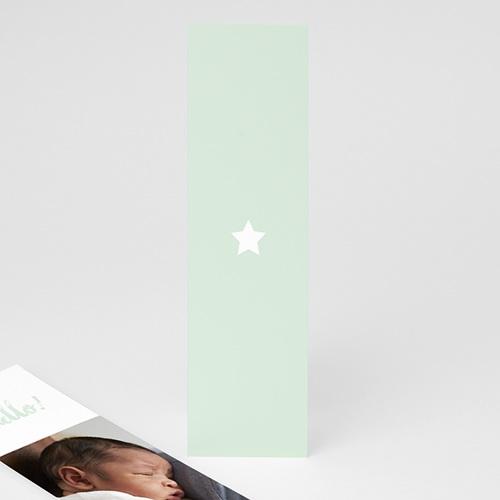 Faire-Part Naissance Eléphant Couleur or avec une étoile format marque page