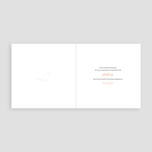 Faire-Part Naissance Fille - Hello World Rose 58064 thumb