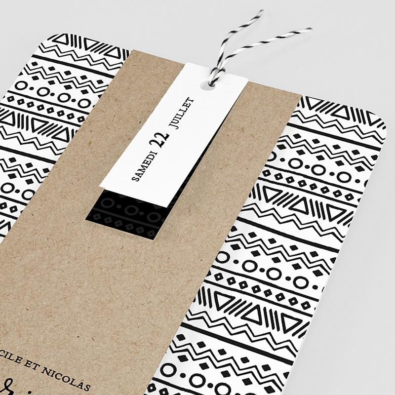 faire part mariage creatif ethnique et kraft. Black Bedroom Furniture Sets. Home Design Ideas
