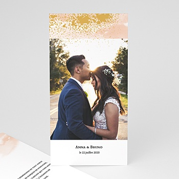 Remerciement mariage créatif - Aquarello
