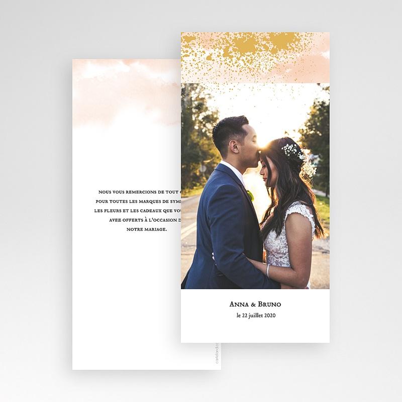 Carte Remerciement Mariage Créatif Aquarello pas cher