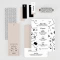Faire-Part Mariage Créatif Formes Abstraites gratuit