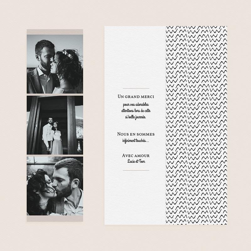 Carte Remerciement Mariage Créatif Formes Abstraites gratuit