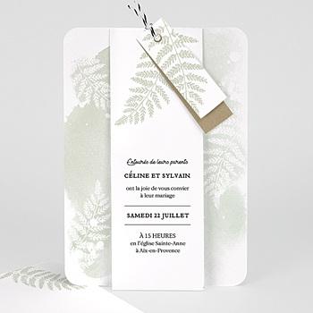 Faire-Part mariage champêtre - Verdoyant - 0