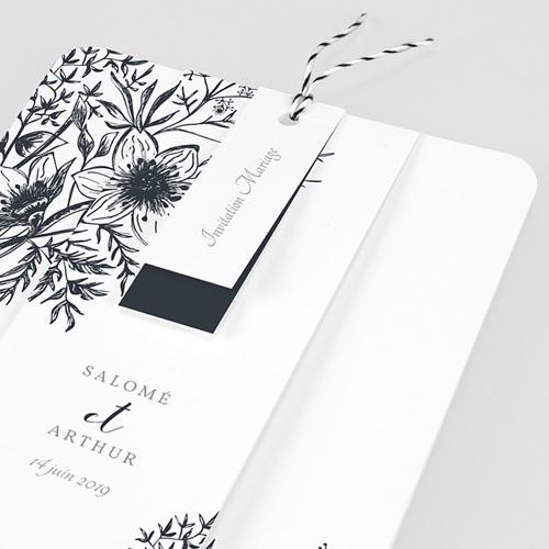 Faire-Part Mariage Esquisse Florale pas cher