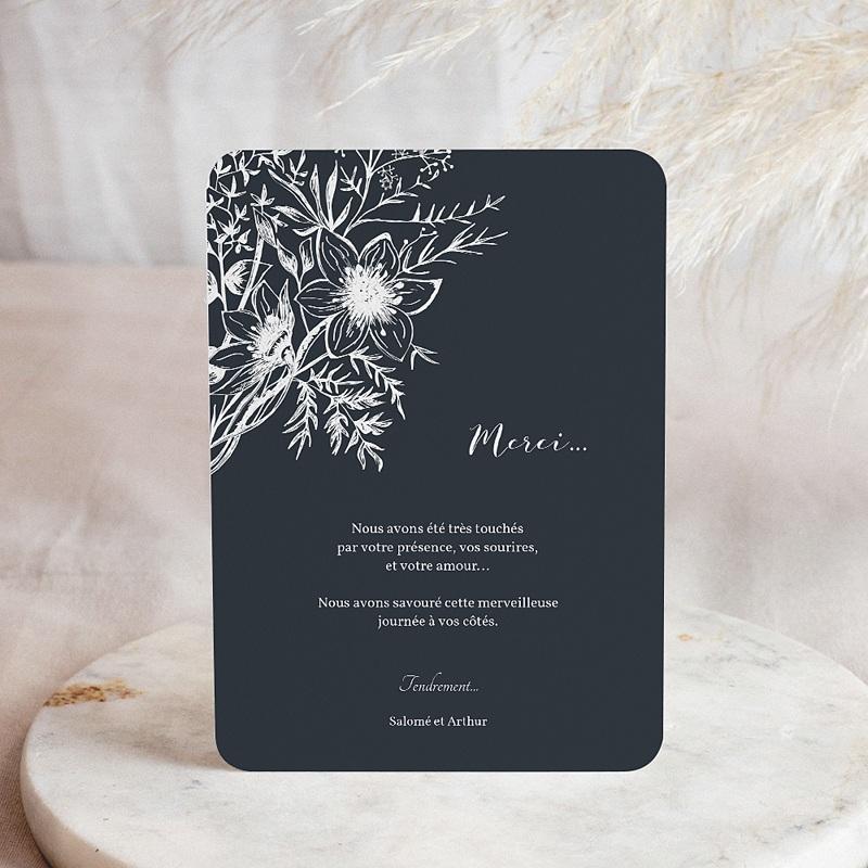 Remerciement mariage photo - Esquisse Florale 58443 thumb