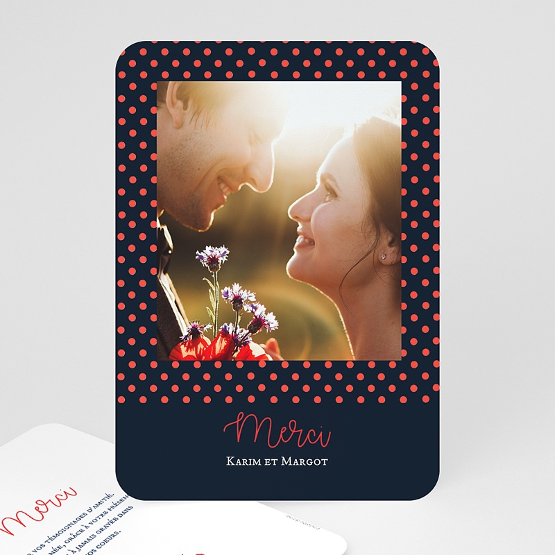 Carte Remerciement Mariage Photo So french