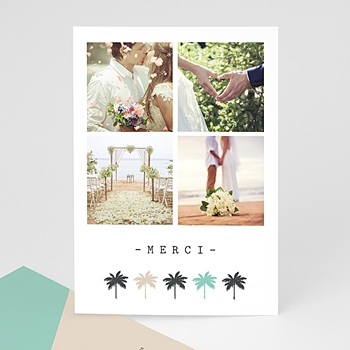 Carte de remerciement mariage photo Direction Florida