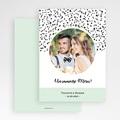 Carte Remerciement Mariage Photo Points noirs et blancs gratuit