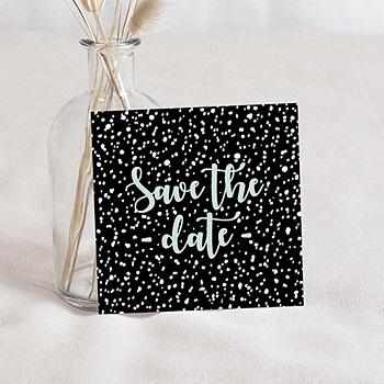 Save the date mariage points noirs et blancs sur mesure