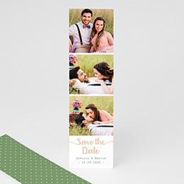 Save the date mariage Végétal