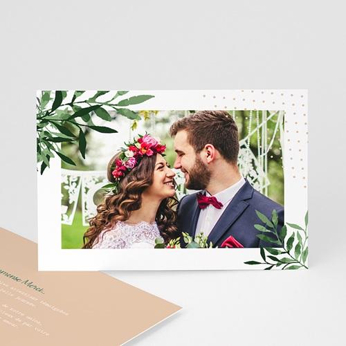 Carte remerciement mariage photo Végétal