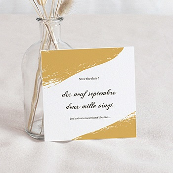 Save the date mariage brush doré personnalisable