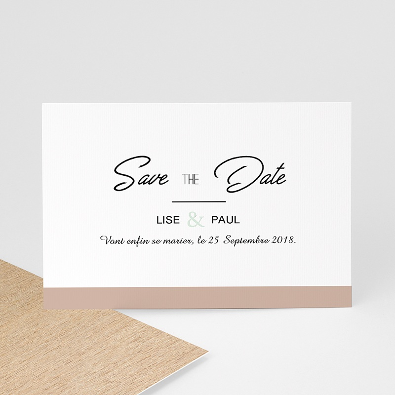 Save The Date Mariage Bois & Pastel