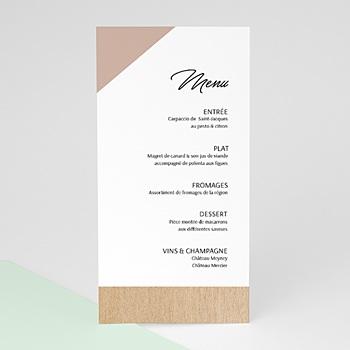 Menu de Mariage - Bois & Pastel - 0
