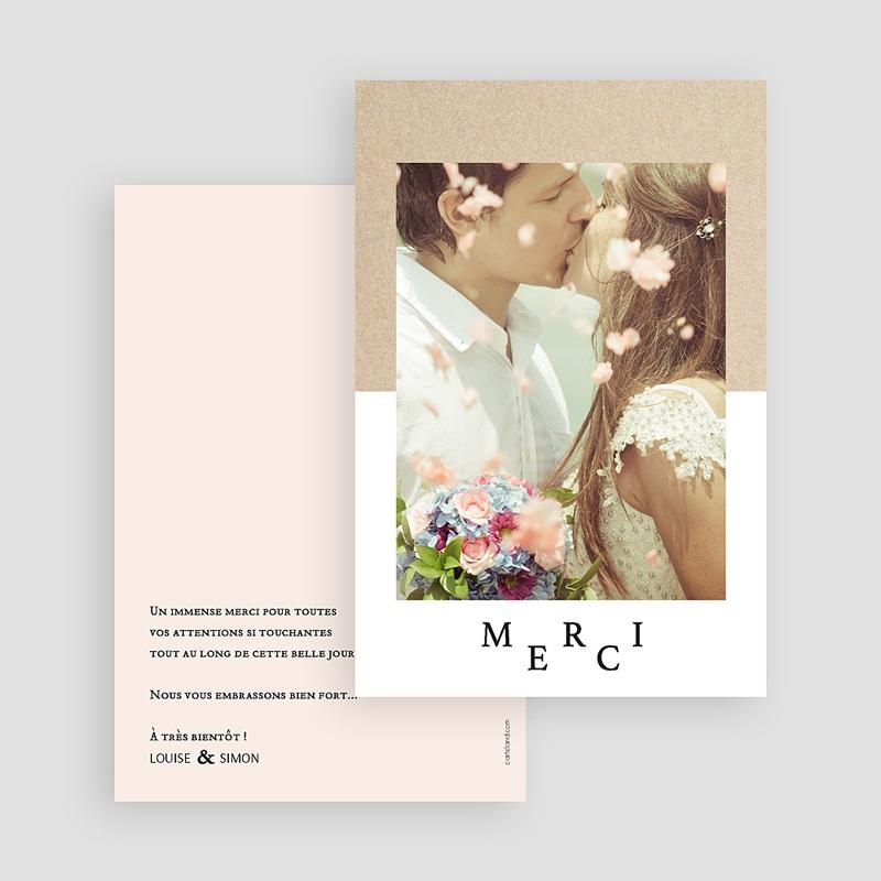 Remerciement mariage photo - Kraft & Color 58707 thumb