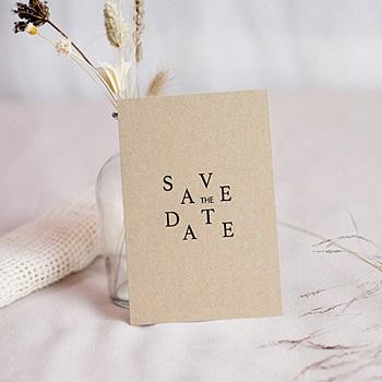 Acheter save the date mariage kraft et color
