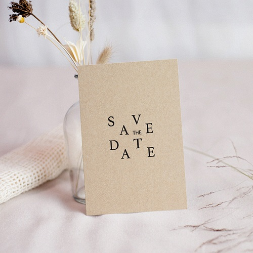 Save The Date Mariage Kraft & Color