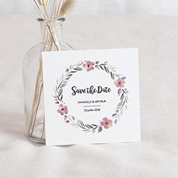 Save the date Mariage Fleurs romantiques